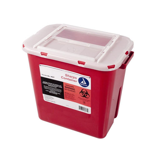 Sharps Container, 2 Gallon (Flat)