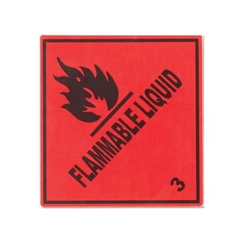 Flammable Liquid Labels, 4x4.25