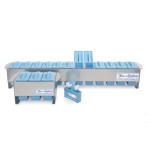 12-Place Slide Stain Set with Hinged Dishes