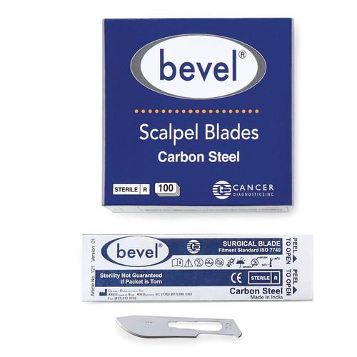 Bevel Carbon Steel Blades, #22