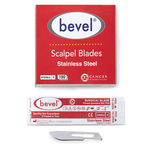 Bevel Stainless Steel Blades, #22
