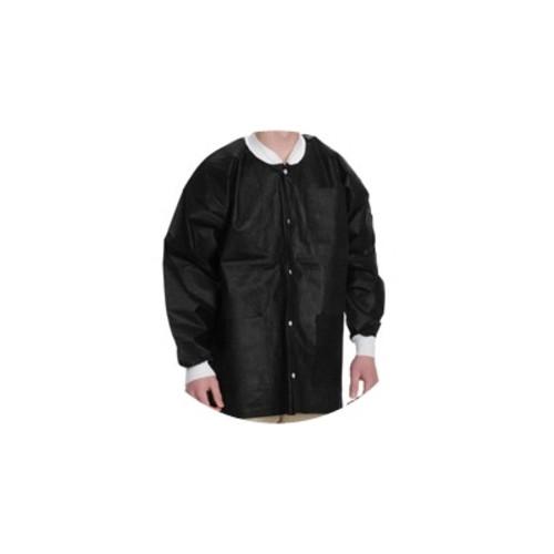 Lab Coats, Knee Length, PK/10, Black