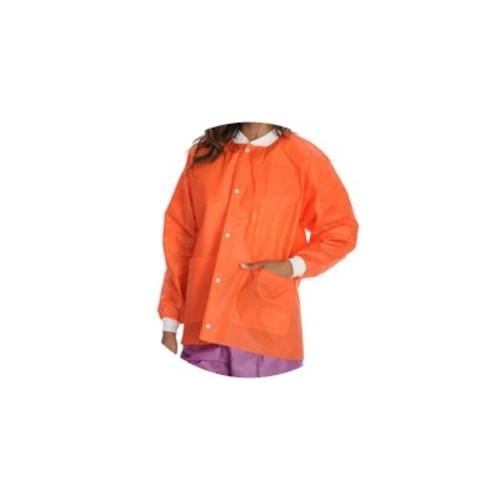 Lab Coats, Knee Length, PK/10, Orange