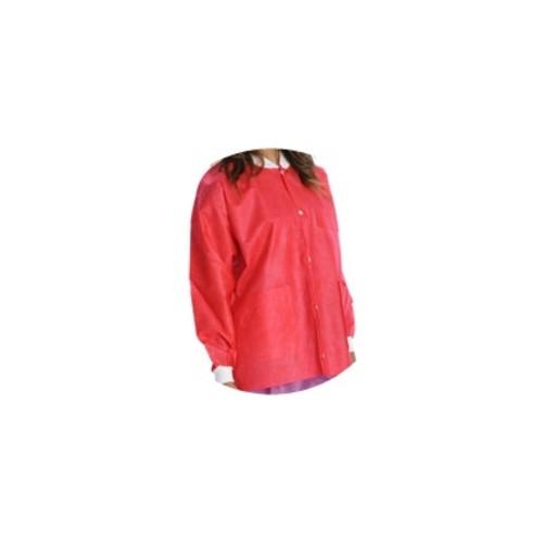 Lab Coats, Knee Length, PK/10, Red