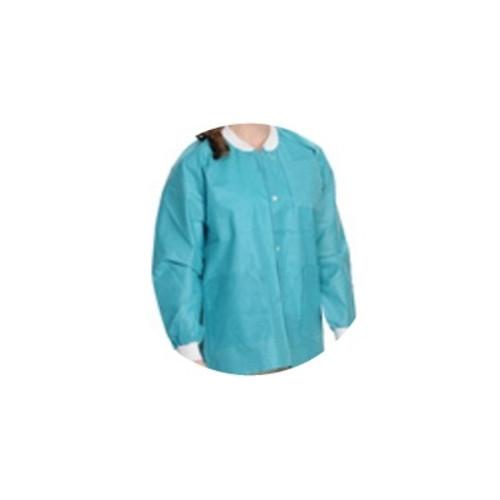 Lab Coats, Knee Length, PK/10, Teal