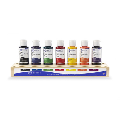 Cancer Diagnostics Tissue Marking Dye Kit, 7 color, Wood Tray