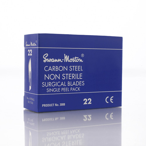 Swann-Morton® #22 Carbon Steel Scalpel Blades Packaging