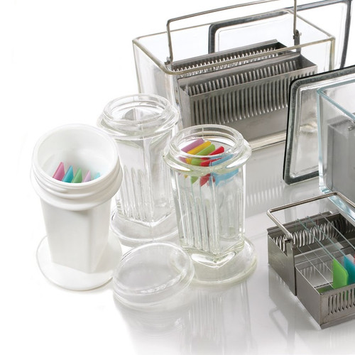 Coplin Jar, Glass, 5-slide PK/5