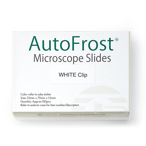 AutoFrost® Microscope Slides, Clipped Corner, White
