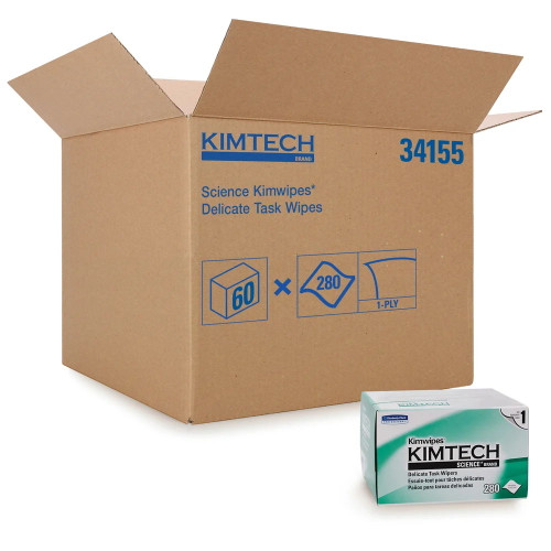 Kimtech™ Science Wipes, Delicate Task Wipers Case of 60 boxes