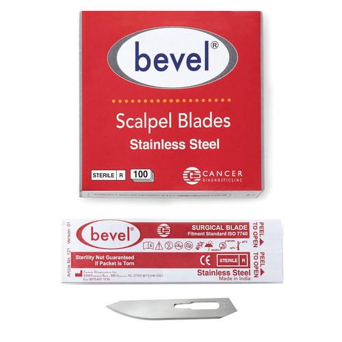 Bevel Stainless Steel Scalpel Blade, Sterile #60